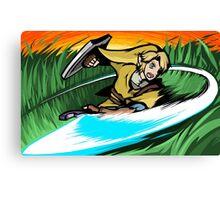 Link   Sword Slash Canvas Print
