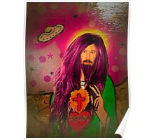 Keanu Jesus Antique Oil Poster