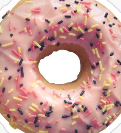 Isolated Pastel Pink Donut Sticker
