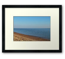 Restful empty beach Framed Print