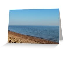 Restful empty beach Greeting Card