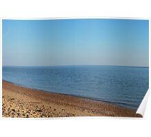 Restful empty beach Poster