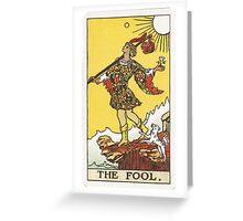Tarot - The Fool Greeting Card