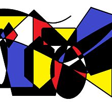 Geometric Shapes and Primary Colors by Jana Gilmore
