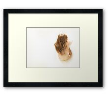 Beautiful young attractive nude caucasian woman Framed Print