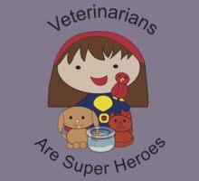Veterinarians Are Super Heroes Kids Tee