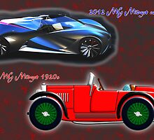 1st MG Midget 1920s + MG Midget Concept 2012 by Dennis Melling