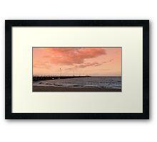 Shorncliffe Sunset Framed Print