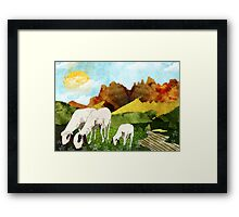 Mountain goats Framed Print