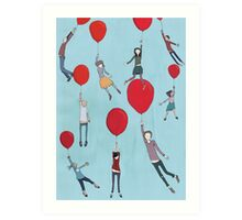Up, up and away Art Print