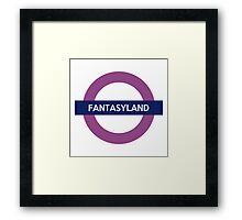 Fantasyland Line Framed Print