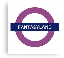 Fantasyland Line Canvas Print