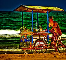 Beach Vendor by Paul Wolf