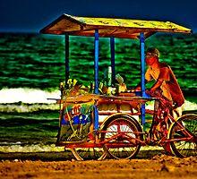 Beach Vendor by Paul Wolf