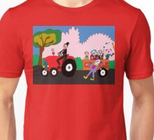 Tractor load of clowns Unisex T-Shirt
