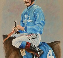 Frankie Dettori by Stephanie Greaves