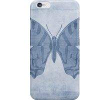 Butterfly Textures Cyanotype iPhone Case/Skin