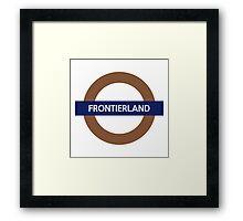 Frontierland Line Framed Print