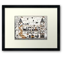 The royal family at home Framed Print