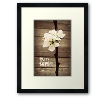 Happy Birthday Blossoms Framed Print