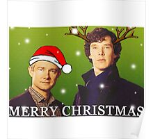 Sherlock Holmes merry Christmas merchandise  Poster