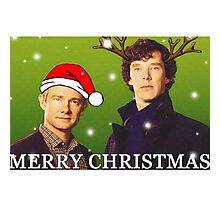 Sherlock Holmes merry Christmas merchandise  Photographic Print
