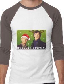 Sherlock Holmes merry Christmas merchandise  Men's Baseball ¾ T-Shirt