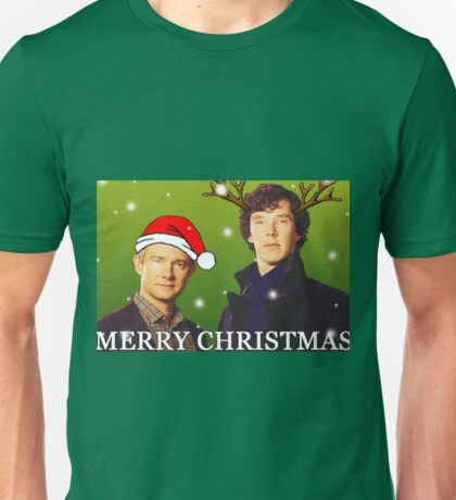Sherlock Holmes merry Christmas merchandise  Unisex T-Shirt
