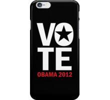Vote Obama Shirt iPhone Case/Skin