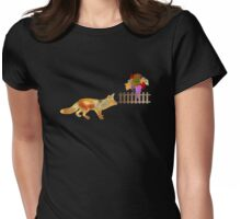 The Fox and the Vineyard Womens Fitted T-Shirt