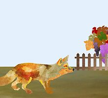 The Fox and the Vineyard by Design4uStudio