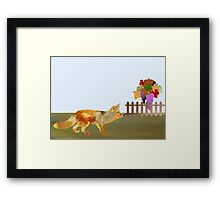 The Fox and the Vineyard Framed Print