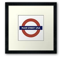 Main Street USA Line Framed Print