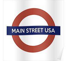 Main Street USA Line Poster