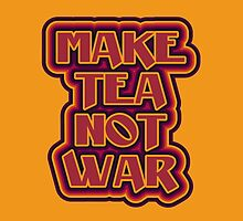 Make tea not war flower power style by aapshop
