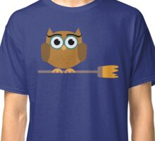 Owl on the broom Classic T-Shirt