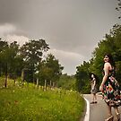Danielle and Brooke after the storm by redhairedgirl
