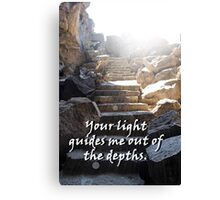 """Your light guides me out of the depths."" by Carter L. Shepard Canvas Print"