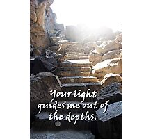 """Your light guides me out of the depths."" by Carter L. Shepard Photographic Print"