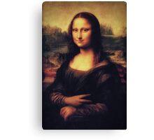 Mona Lisa! SWAG! PEACE! YOLO! Parody Canvas Print