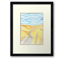 Windshield View Framed Print