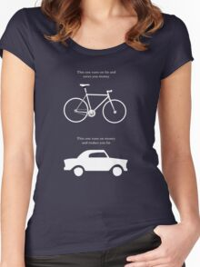 This one runs on fat and saves you money - Alt' graphic Women's Fitted Scoop T-Shirt