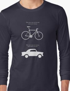 This one runs on fat and saves you money - Alt' graphic Long Sleeve T-Shirt
