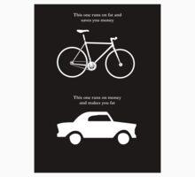 Bike V's Car Sticker by Colin Wilson