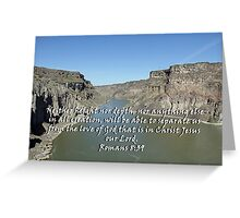 """Romans 8:39 "" by Carter L. Shepard Greeting Card"