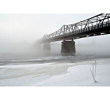Bridge in the mist Photographic Print