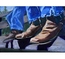 Cowboy Boots at Rest Photographic Print