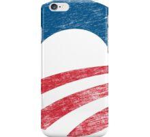 Retro Obama Logo Shirt iPhone Case/Skin