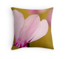 Cyclamen Cluster Throw Pillow