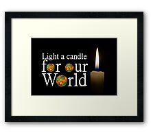 another light a candle for our world Framed Print